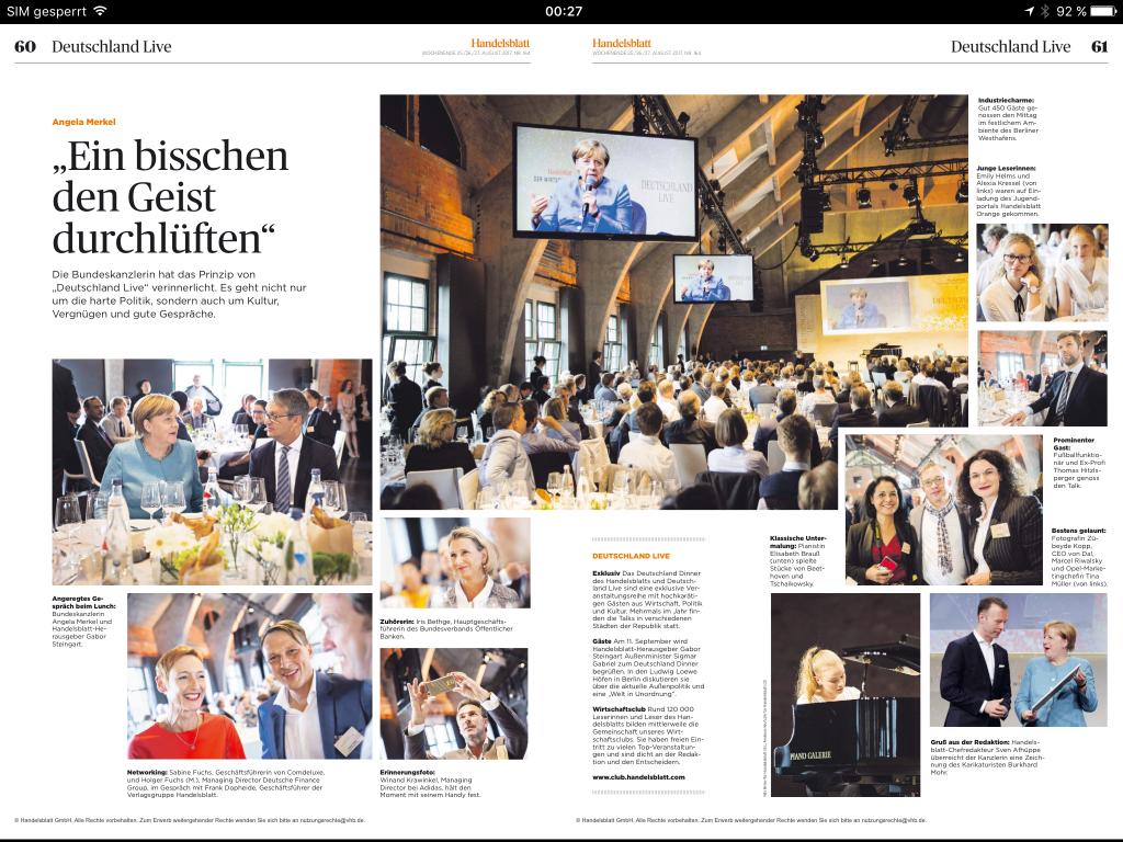 Handelsblatt Merkel